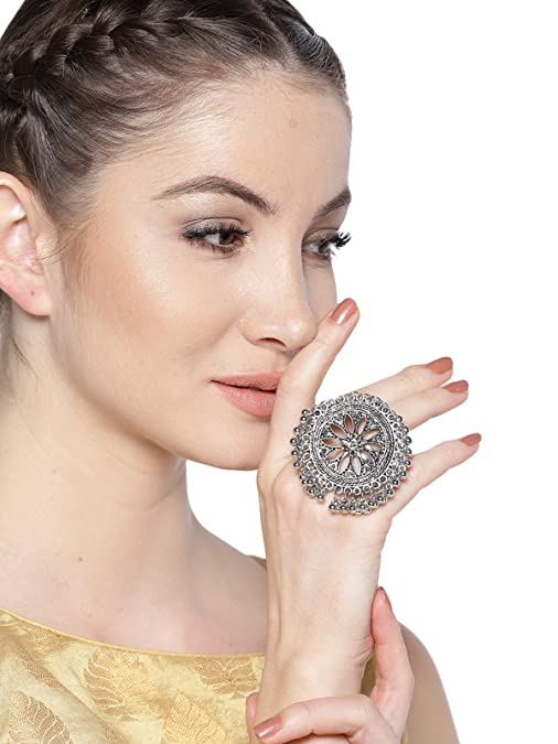 Amazon Great Indian Festival Sale: Silver oxidised jewellery for rocking Navratri in style
