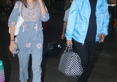 Ananya Panday's powder blue indo western outfit at the airport is perfect for festive fusion look: Yay or Nay?