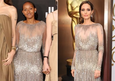 Angelina Jolie's daughter wore star's 2014 Oscars dress to the Eternals premiere