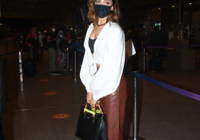 Deepika Padukone accessorises her airport look with a Gucci Diana tote and socks with stilettos: Yay or Nay?