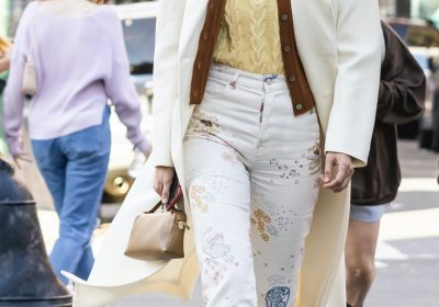 Gigi Hadid shows how to choose the eco friendly route with quirky jeans; Yay or Nay?