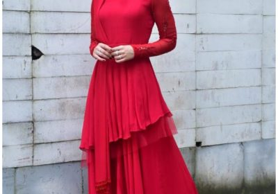 Kriti Sanon paints the town red in an Indo Western ensemble and we can't keep calm; Yay or Nay?