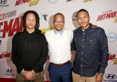 T.I. Is Proud On Stage With His Son, Domani
